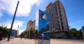 На улицах Любляны есть прибор, измеряющий, какое небо голубое