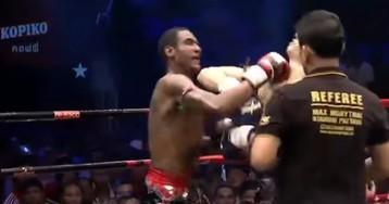 Бойцы одновременно выключили друг друга на соревнованиях по муай-тай