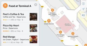 Primeiros estabelecimentos mapeados internamente começam a aparecer nos Mapas do iOS 11