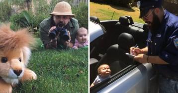 Папа жжот: дуэт отца и 9-месячной дочки покорил соцсети