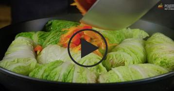 Голубцы из пекинской капусты: видео-рецепт