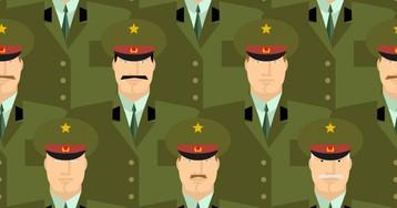 Как солдат, прапорщик игенерал в«Поле чудес» участвовали
