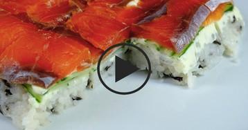 Суши-торт: видео-рецепты