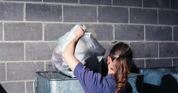 Пошла выбрасывать мусор, нонаполпути вспомнила про включённый утюг…