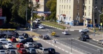 Появилось видео страшного ДТП с пешеходами в Мытищах (18+)