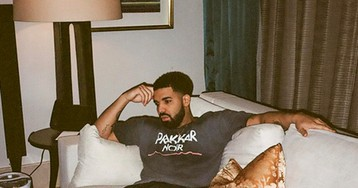 Drake Gets to 'Work' in a Pair of Socks with a Picture of Rihanna on Them