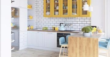 3 варианта планировки кухни в типовой панельной однушке