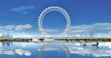 В Китае построили инженерное чудо — футуристическое безосевое колесо обозрения