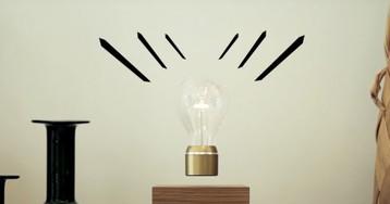 This floating lightbulb just went Peak Wireless Charging