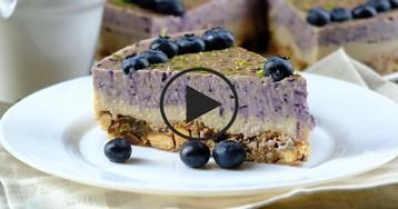 Чернично-лаймовый чизкейк: видео-рецепт