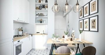 3 варианта планировки маленькой кухни с системой хранения