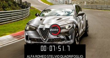 Alfa Romeo Stelvio Quadrifoglio Smashes Nurburgring Record For SUVs