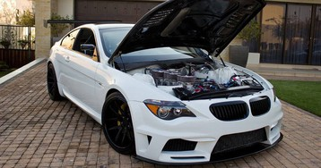 Crazy BMW M6 Build Swaps V10 For Six-Rotor Engine