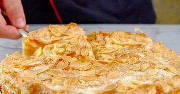 Яблочный пирог с миндальной корочкой: видео-рецепт