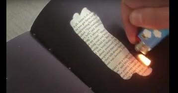 Рукописи не горят: книга, которую нужно опалить, чтобы прочитать