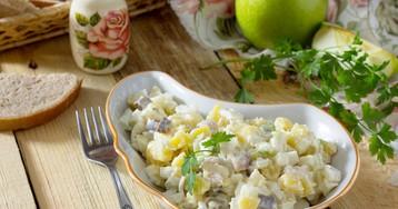 Салат из сельди, картофеля и яблок