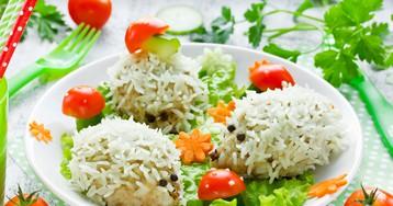 Ёжики с рисом для детей