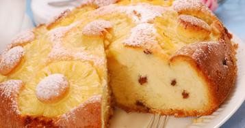 Ананасовый пирог с изюмом
