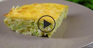 ВИДЕО-РЕЦЕПТ: Запеканка из риса и кабачков сыра