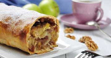 Яблочный штрудель с грецкими орехами