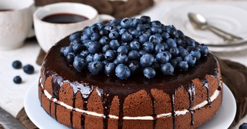 Шифоновый бисквитный торт в мультиварке