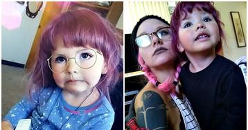 Мать-альтернативщица позволяет красить волосы и носить макияж своей 2-летней дочери