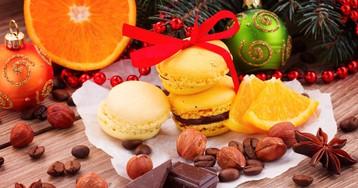 Новогоднее пирожное Макарон
