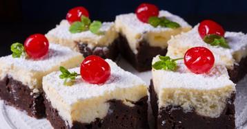 Шоколадно-творожный брауни