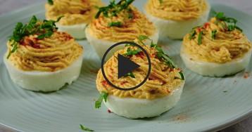 ВИДЕО-РЕЦЕПТ: Праздничная закуска из яиц