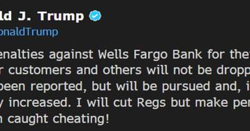 Trump Warns He Might Increase the Penalties on Wells Fargo