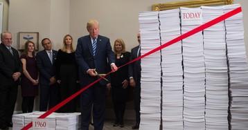 Trump Boasts of Bringing a 'Screeching' Halt to Growth of Regulations