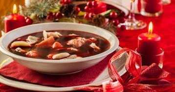Польский рождественский борщ с ушками