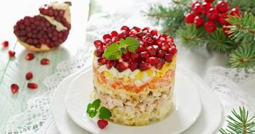 Салат «Красная шапочка» с зернами граната
