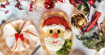 """Новогодний салат """"Дед Мороз"""""""