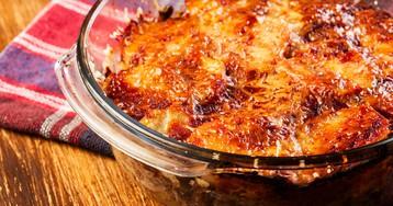 Запеченный картофель с мясом под сыром