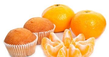Новогодние творожные кексы с мандаринами