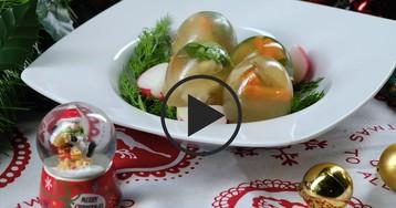 "ВИДЕО-РЕЦЕПТ: Заливное ""Яйца Фаберже"""