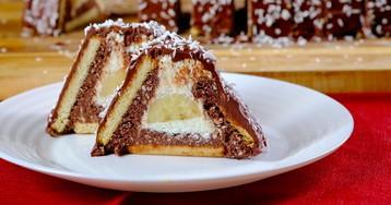 """ВИДЕО-РЕЦЕПТ: Торт """"Творожный домик"""" на скорую руку"""