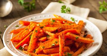 Запеченная морковь с чесноком от Джейми Оливера