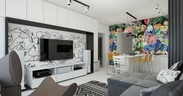 Как расставить мебель в «панельке»: идеи для двушки с эркером