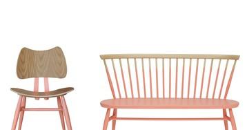 ercol updates 1950's originals with on-trend millennial pink