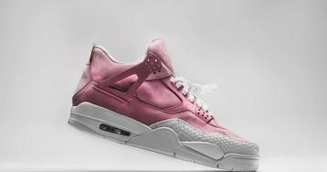 "The Shoe Surgeon Drapes the Air Jordan 4 in Luxe ""French Rose"""