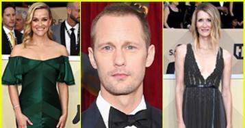 Reese Witherspoon Joins Alexander Skarsgard & Laura Dern at SAG Awards 2018