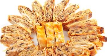 Рулет из лаваша с грибами и сыром