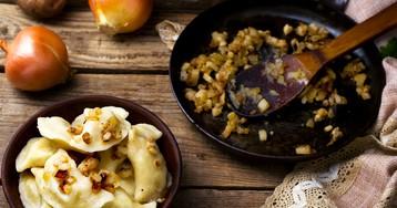 Домашние вареники с картофелем и луком