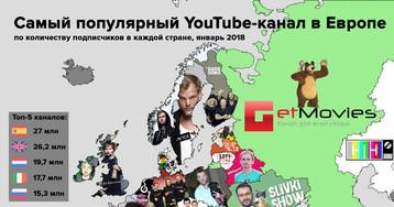 Выявлен топ популярных европейских YouTube каналов
