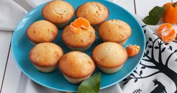 Нежнейшие творожные кексы с мандаринами