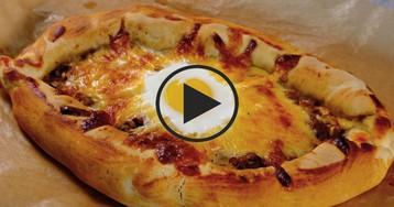 """Видео-рецепт: Пицца """"Лодочка"""""""