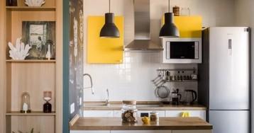 Трехкомнатная квартира с желтыми акцентами и мебелью ИКЕА