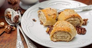Армянская гата – слоёное печенье с грецкими орехами
